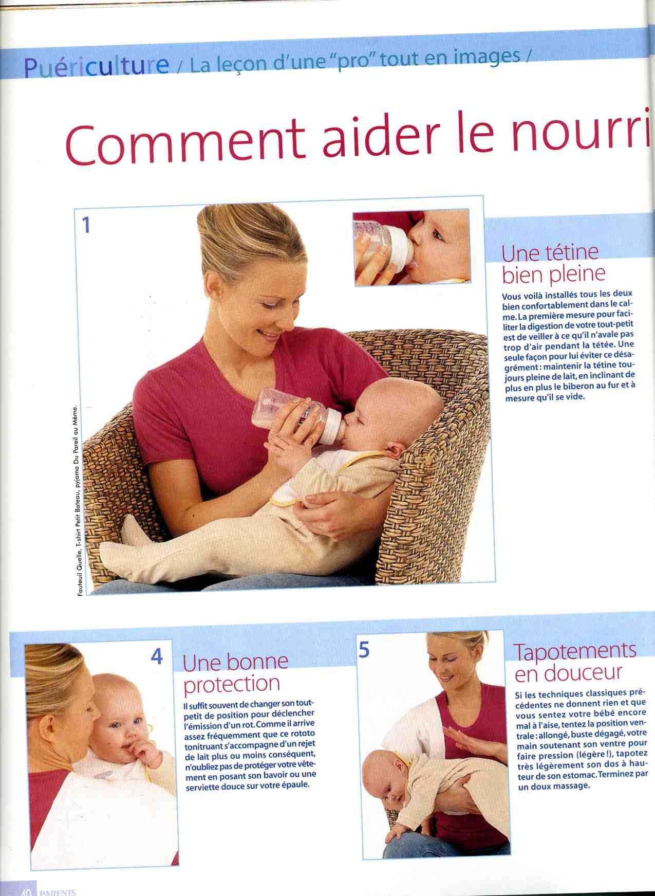 position biberon bébé
